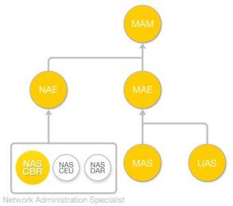 Diagrama de flujo Curso Basico de Redes (NAS-CBR)