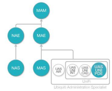 Diagrama de flujo Curso Planificacion y Despliegue de Redes WiFi UniFi Ubiquiti (UAS-UNI-PDE)
