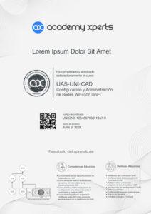 Certificado Demostrativo del Curso UAS-UNI-CAD