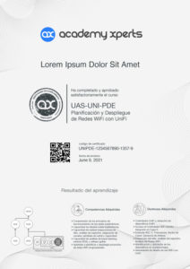 Certificado Demostrativo del Curso UAS-UNI-PDE