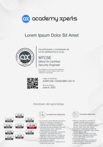 Modelo de Certificado Asistencia y Participacion en Curso MikroTik MTCSE