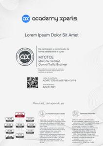 Modelo de Certificado Asistencia y Participacion en Curso MikroTik MTCTCE