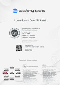 Modelo de Certificado Asistencia y Participacion en Curso MikroTik MTCWE