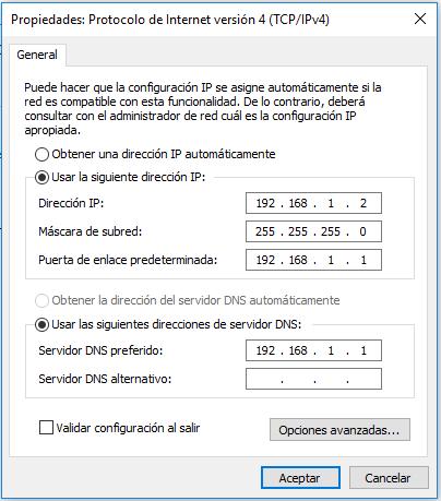 Configuracion direccion IP en computador