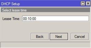 DHCP Setup MikroTik Lease Time Tiempo de asignacion de direcciones