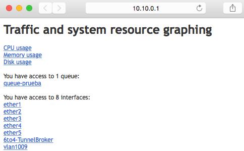 MikroTik herramienta graphing por browser
