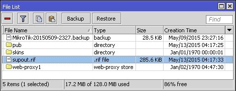 MikroTik supout rif carpeta de archivos