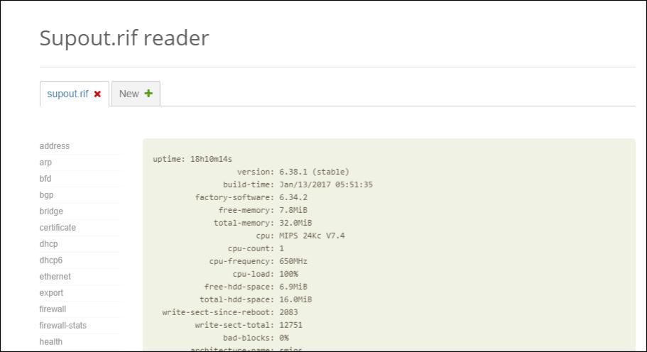MikroTik supout rif reader lector