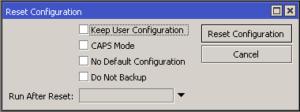 Reset Configuration en un Router MikroTik