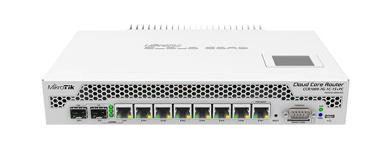 mikrotik CCR1009-7G-1C-1S+PC-0 ethernet router