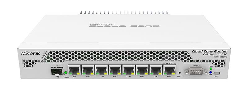 mikrotik CCR1009-7G-1C-PC-0 ethernet router