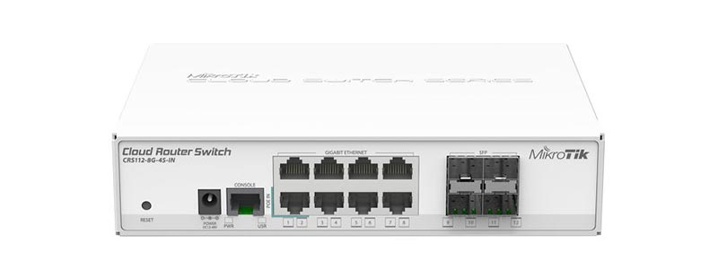 mikrotik CRS112-8G-4S-IN-0 switches