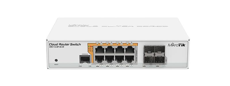 mikrotik CRS112-8P-4S-IN-0 switches