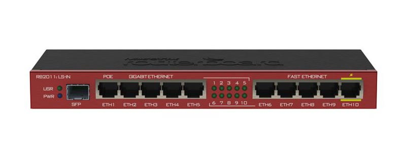 mikrotik RB2011iLS-IN-0 ethernet router