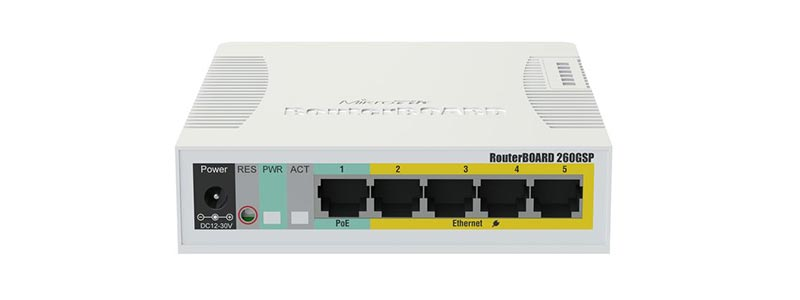mikrotik RB260GSP-0 switches