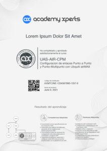 Certificado Demostrativo del Curso UAS-AIR-CPM